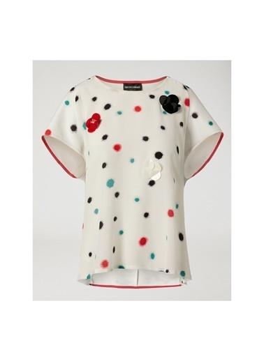 Emporio Armani  Kadın Bluz 3Z2M6T 2J8Bz Beyaz